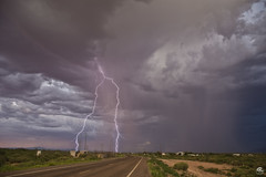 Big Storm,Small Town (Steven Maguire Photography) Tags: monsoon monsoonstorms cochisecounty clouds lightning landscape lightningstrike arizona desert double adobe
