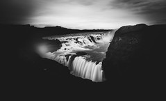 Gullfoss Waterfall, Iceland (Syed Ali Warda) Tags: artistic amazing arts black white canon art iceland dramatic dark darkclouds drama excellent exposure exciting explore explored exposed flickr greatphotographers interesting impressive landscape landscapes outdoor observing outside overcast picture panaromic photo syedaliwarda sea sky mountain ocean water waterfalls rock waterfall grass gullfoss gullfosswaterfall waterfront