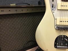 Magnatone and a Jaguar (gpa.1001) Tags: fenderjaguar fender guitar magnatone amplifier amp