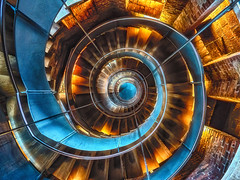 Glasgow - The Lighthouse (Patrik S.) Tags: glasgow scotland lighthouse tower stairs spiral staircase downstairs upstairs uk europe art treppe escaliers kunst bricks brick bachstein metall steel wood round sick high up down middle ngc