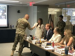 2018_INTL_TAPS_International_Working_Group_Staff_73 (TAPSOrg) Tags: taps tragedyassistanceprogramforsurvivors international tapsinternationalworkinggroup arlingtonva hq 2018 military indoor horizontal male uniform army speaker candid woman handshake