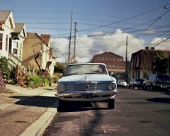 Plymouth Valiant in Alameda, CA (SmittyNC) Tags: plymouth valiant mopar pentax 6x7 67 ektar alameda