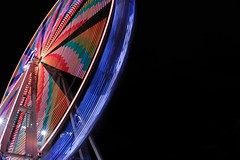 Slow wheel #1 (1DesertRose) Tags: movement motion australia perspective fun play look view landscape fair holiday travel nightlife wheel slow nighttime bright sydney night colourful longexposure ferriswheel