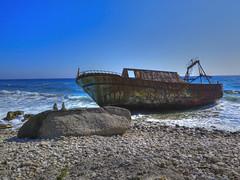Shipwreck Agios Gordios Beach Corfu (babell4321) Tags: corfu shipwreck shipwreckcorfu wrecked beverleybell 2018 holiday greece greekisland agiosgordiosbeachcorfu blackrocksbeach