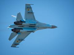 Sukhoi Su-27 Flanker (amipal) Tags: gloucestershire raffairford aerobatics aeroplane airbase airshow aircraft display england fighter flanker gb greatbritain jet riat royalinternationalairtattoo sky su27 sussex uk ukraine ukrainianairforce unitedkingdom