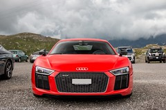 Audi R8 V10 2015 (Nico K. Photography) Tags: audi r8 v10 2015 red supercars view mountains nicokphotography switzerland gotthardpass