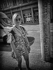 Skater GIrl (Fouquier ॐ) Tags: girl brunette skateboard monochrome bw blackandwhite antwerp belgium urban city street