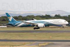 Oman Air 4O-SC 27-7-2018 (Enda Burke) Tags: egcc avgeek aviation canon canon7dmk2 oman omanair manchesterairport manchester dreamliner boeingdreamliner b7879 boeing7879 boeing panning motionblur runway ringway flight flightdeck fly engine