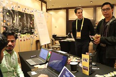 Booth by Odia Wikimedians User Group, OFDN and Wikitongues at Wikimania 2018 (O Foundation (OFDN)) Tags: wikimania 2018 wikimania2018 wikimedia wikipedia capetown africa southafrica ofdn