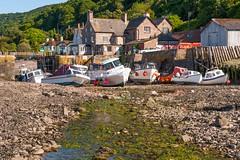 Porlock Weir Somerset (brwestfc) Tags: somerset exmoor boats harbour tide low porlock green trees blue sky