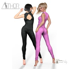 *ATHOR* - Overalls.  Tres Chic 08/18  Round. (ATHOR art Shoes) Tags: clothes maitreya second life