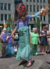 On The Rock (Scott 97006) Tags: kid girl costume mermaid dolls fun play dressup
