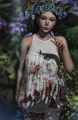 Little things... (♥More Jinx♥) Tags: sl secondlife butterfly girl girly summer dress lovely beauty flower wings