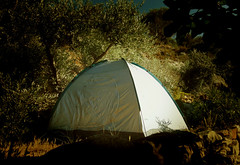 Filoxenia (egotoagrimi) Tags: ikaria rurallife simplelife camping tent aegean greece iglootent terracedfields olives village hospitality summer ικαρία july καβάτζα