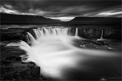 Moody Godafoss (Maciek Gornisiewicz) Tags: godafoss waterfall iceland europe longexposure travel landscape moods flow river clouds rocks outdoors mono monochrome blackandwhite motion stream canon nisi 1635mm 5div maciek gornisiewicz darkelf photography moodygodafoss 2017