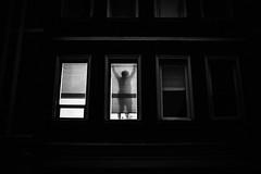 Hanging Drapes 338 365 (ewitsoe) Tags: canoneos6dii city evening street warszawa erikwitsoe poland urban warsaw monochrome blackandwhite mono window night shadow doingsomethinginteresting shades looking urbanites