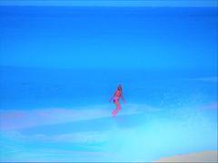 Kea'au Beach (thomasgorman1) Tags: zoom zoomed canon colorized colors sand keaau oahu hawaii sea ocean bikini running woman
