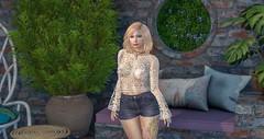 Lace on a summer afternoon (Natasha Calliope) Tags: blogger catwa maitreya coco ikon chez moi concept redfish truth tres blah bliensen maitai elle boutique kibitz pink fuel izzies {concept} belle poses lumipro