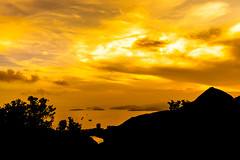 Telegraph Bay Silhouette (Mark F Naba) Tags: silhouette golden sky landscape nature hongkong naturescape sea ocean bay landscapephotography stills still vibrant sonya7 rural