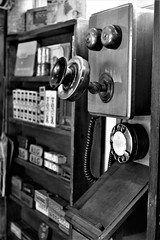 Wife said She Wants a New Landline (WorcesterBarry) Tags: blackwhite bnw old technology telephone candid travel places blackcountrymuseumn