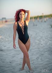 Evening Sunlight (oshcan) Tags: summer beach model woman girl nikon d4s 85mm14