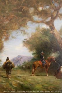 Le Jour ni l'Heure 1412 : Eugène Fromentin, 1820-1876, À l'oasis, c. 1874, coll. Simonow, abbaye de Flaran, Valence-sur-Baïse, Gers, Gascogne, Midi-Pyrénées, mercredi 11 mars 2015, 16:54:23