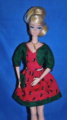 Silkstone Melon (toomanypictures1) Tags: mattel vintagebarbie reproduction lets dance silkstoneclothes vintageskipper mod francie
