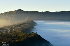 IOI_4329 Misty Mountain Morning (Indah Obscura) Tags: hillside town thick early morning mountain sunken plateau mist