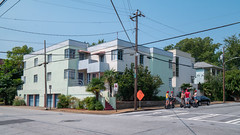 A bit of South Beach in Atlanta's King Historic District (Marc Merlin) Tags: artdeco kinghistoricdistrict building streetscene segway atlanta georgia unitedstates