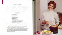 "Sophia Loren & Pasta e Fagioli Recipe, from ""Sophia Loren's Recipes & Memories"" Hardcover Cookbook (classic_film) Tags: sophialoren actress actrice italian sexy sexsymbol sensuous beauty beautiful schön mujer mujerbonita frau hübschefrau época ephemeral celebrity actriz aktrice akteur schauspielerin cookbook book kitchen cooking cook recipe woman lady nostalgia nostalgic niñabonita 1998 glamour style hair hairstyle old alt oll"