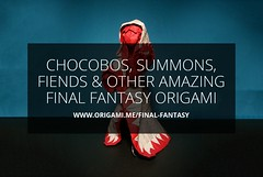 Chocobos, Summons, Fiends and Other Amazing Final Fantasy Origami (Origami.me) Tags: origami origamiart origamis origamifun paper papercraft papercrafts craft crafts diy art papers paperart papercut fold folded folding folders folder finalfantasy final fantasy