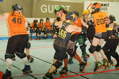 071 (Bawdy Czech) Tags: lcrd lava city roller dolls spit fires basin bombers bend oregon or skate wftda flat track april 2018 bout
