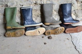 213 -- Collection of wellies -- Rubberboots -- Gummistiefel -- Regenlaarzen