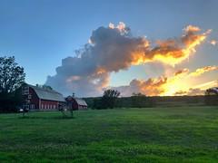 Sunset Barn (-SOLO--) Tags: landscape 7dwf sunset barn iphone