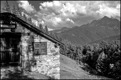 Belvedere (Guido Colombini) Tags: mountains bw vallecamonica alps hut bianconero clouds