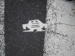 Short Stikman White Robot Tile Tmes Square NYC 7066 (Brechtbug) Tags: a return stikensian era white robot tile stikman broadway times square nyc street art graffiti tag tagging stencil cut out toynbee stickman asphalt figurative school flat action figures new york city 08102018 cross walk smoke 2018 stik man men curious streets summer heat august
