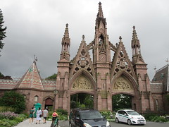 Green-Wood Cemetery Main Front Entrance 7214 (Brechtbug) Tags: greenwood cemetery main front entrance 2018 nyc brooklyn new york city near 25th street r train subway stop 08122018 gates gateway gate used house parrots that escaped from crates docks nearby