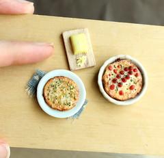 Frittatas (fairchildart) Tags: polymerclay dollhouse miniature food frittata egg breakfast 1 12 one inch scale fairchildart