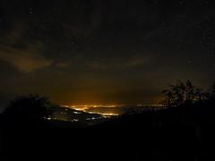 Lost in the stars (asamoal2) Tags: sky mountain landscape nightscape coastline stars star clouds light lights tree trees universe nightsky em10 em10mark2 1240pro night longexposure