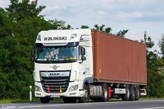 DAF XF116.480 II / Rolinski (PL) (almostkenny) Tags: lkw truck camion ciężarówka container daf xfeuro6 xf116 ssc superspacecab pl polska poland rolinski wgm34469