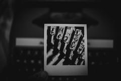 typo... (Jess Feldon) Tags: everyweekisanewchallenge jessfeldon letters typography lookslikefilm blackandwhite 50mm typewriter retro vintage polaroid