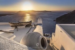Rooftop in Fira, Santorini, Greece