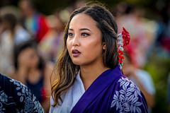 Obon Festival, Los Angeles, California (paccode) Tags: festival d850 flowers venicebeach street people serious tourist quiet costume posing california colorful celebration candid concern profile concentrate kimono portrait urban