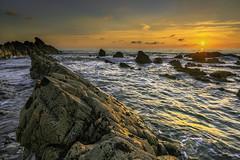Summerleaze Too (jonsomersphotos) Tags: atlanticcoast bude coast coastline cornwall july2018 kernow landscape northcornwall rocks seascape seashore southwestcoastpath summerleazebeach sunset