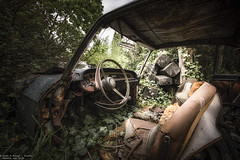 Hide away (Dennis van Dijk) Tags: urbex urban exploration ue eu belgium france europe abandoned forgotten car cars classic oldtimer dust rust lost found barn find biofuel folies nature taking over beauty moody precious decay derelict