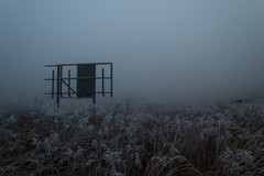 Three billboards outside Ebbing, Missouri (Andrzej Mikosz) Tags: szczecin nikond810 fog frost billboard