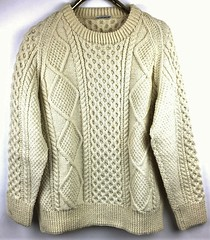 Aran fisherman wool sweater (Mytwist) Tags: donegal ireland fisherman timeless classic vintage cream ivory mytwist itchie cabled chunky dublin passion style fashion unisex weddinggift love weekend casual knitted wool viking irish handknit 100 sweater fishermen knit st patrick's day mendham