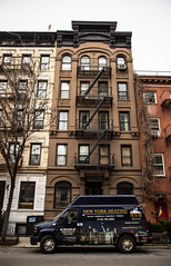 Chelsea's streets ((( n a t y ))) Tags: nyc manhattan city newyork street culture explore travel architecture facade building design classic style chelsea thehood canon experience usa van stairs winter urban