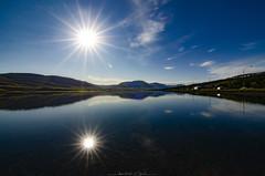 Twins! (_Amritash_) Tags: sunburst sun doublesunburst reflections landscape landscapes iceland akureyri travel northiceland