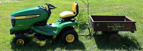 "Like-new John Deere X300 Riding Mower w/ 42"" Cut Deck ($1,568.00)"